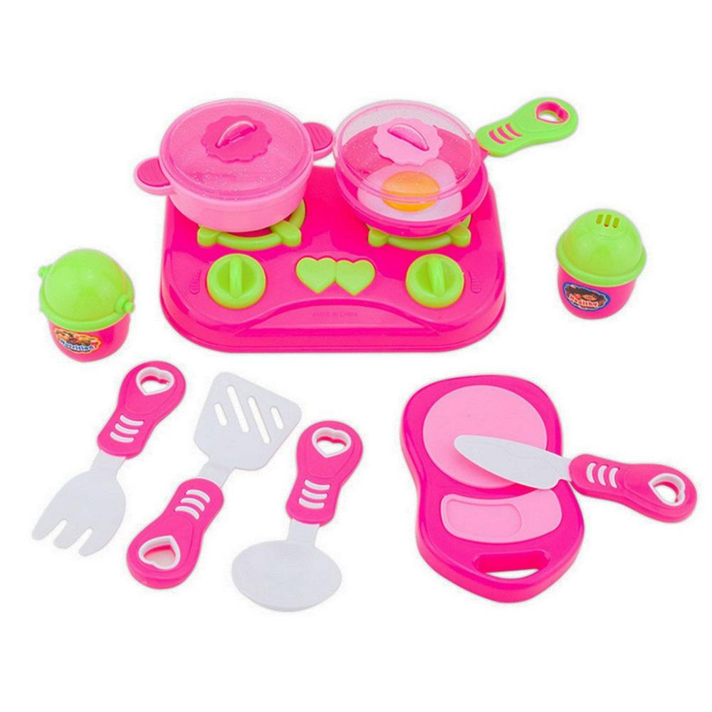Pink Kids House Children Kitchen Toys For Girls Cooking Food Dishes  Cookware Pretend U0026 Play Kitchen Playset Toys Educational Baby Toys Best  Baby Toys From ...