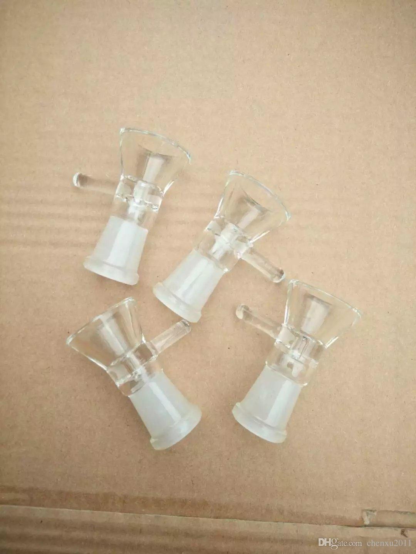 Schwarz und Weiß matt Trompete Adapter Bongs Zubehör, Ölbrenner Glaspfeifen Wasserpfeifen Glaspfeife Ölplattformen Rauchen mit Pipette Glas