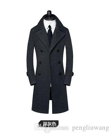 f3f51d2eb3d 2019 Casual Woolen Coat Men Trench Coats Overcoat Mens Cashmere Coat Casaco  Masculino Inverno Erkek England Business Casual Design From Pengliuwang
