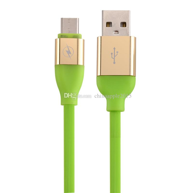TPE Elastic 1m 30cm Micro 5pin Type c Fast charger usb data charger cable for samsung galaxy s6 s7 edge s8 plus letv htc lg android phone