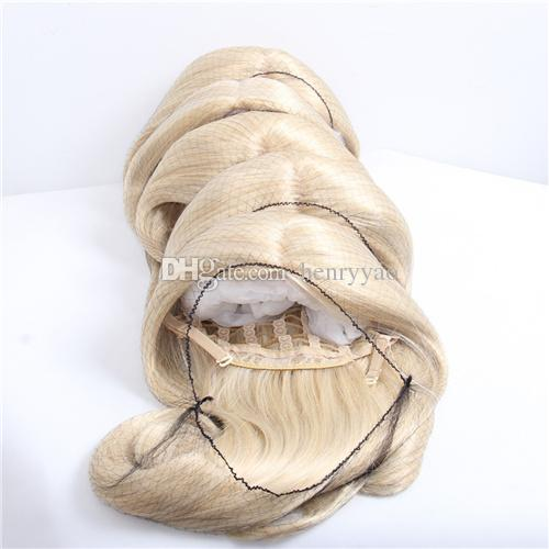 Long Straight Synthetic Hair Wigs Bang Wig Medium Side Bang Beige Cosplay for Black Women Heat Resistant