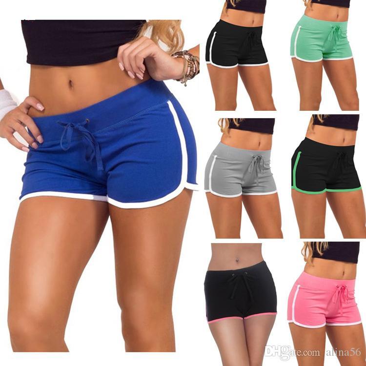 a9b38cd69 2019 Hot Shorts For Girls Casual Women Shorts Summer Woman Sports Cotton Short  Pants Leisure Jogging Short Drawstring Black Blue Grey Green Pink From ...