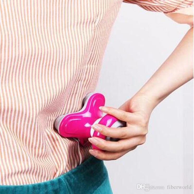 New Mini USB Battery Full Body Massage Wave Vibrating Electric Handled Massager Neck Waist Back Shoulder Massage