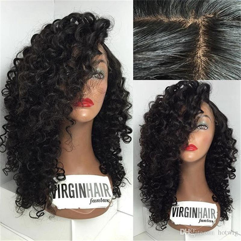 Top Quality Full Lace Human Hair Wigs Afro Kinky Curly Wigs Unprocessed Brazilian Glueless Full Lace Curly Wig For Black Women
