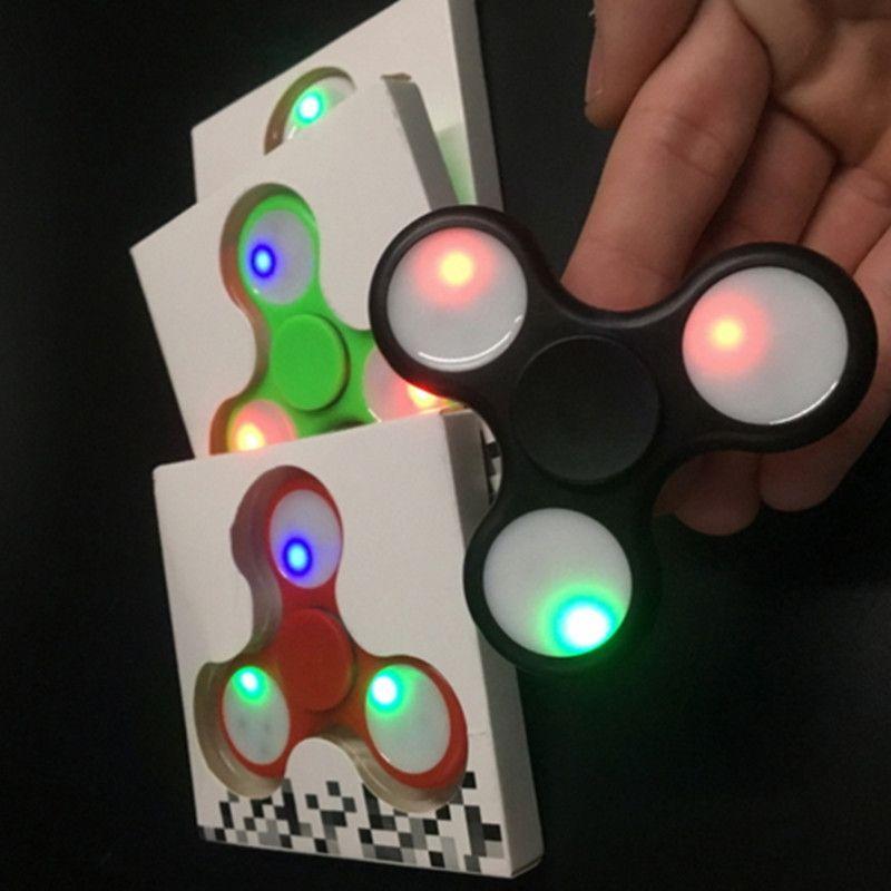 Luminous Hand Spinner Glow Fingertips Spiral Fingers Gyro Toys Tri