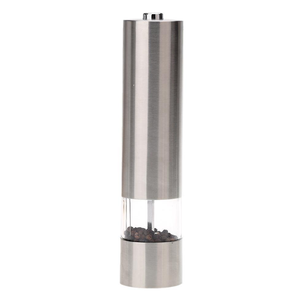 Edelstahl Pfeffermühle Elektrische Pfeffermühle Malzmühle mit Licht Küche Zubehör Gewürzmühle Mühle