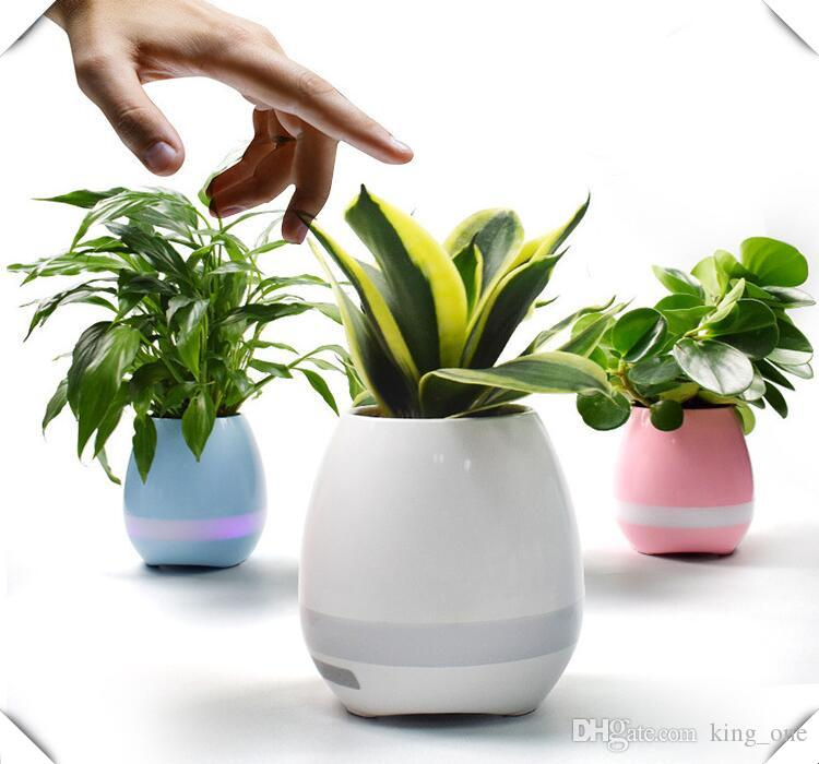 office flower pots. best 2017 smart music flower pots u0026 bluetooth speakers home office decor planter plant night light creative toys speaker hire i