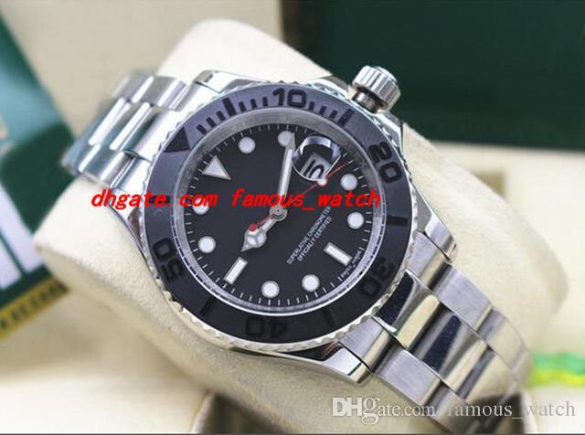 화이트 골드 116655 브랜드 뉴에서 상자 자동 남성 시계 최고 품질 18캐럿 고급 손목 시계 스테인레스 스틸 팔찌 40mm 블랙 다이얼