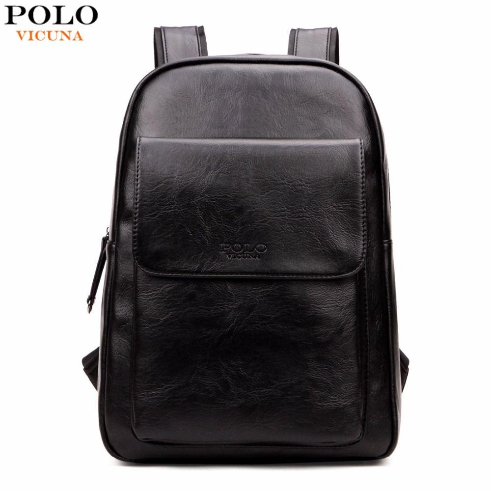 dc7d6a84d7c Wholesale- VICUNA POLO Fashion Korea Design Men s Laptop Backpack ...