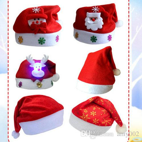 19555e8d3127d DHL Christmas Hat Cosplay Hats Thick Ultra Soft Plush Santa Claus Hat Cute Adults  Christmas Cap Christmas Supplies Cheap Xmas Toys Toys For Christmas For ...