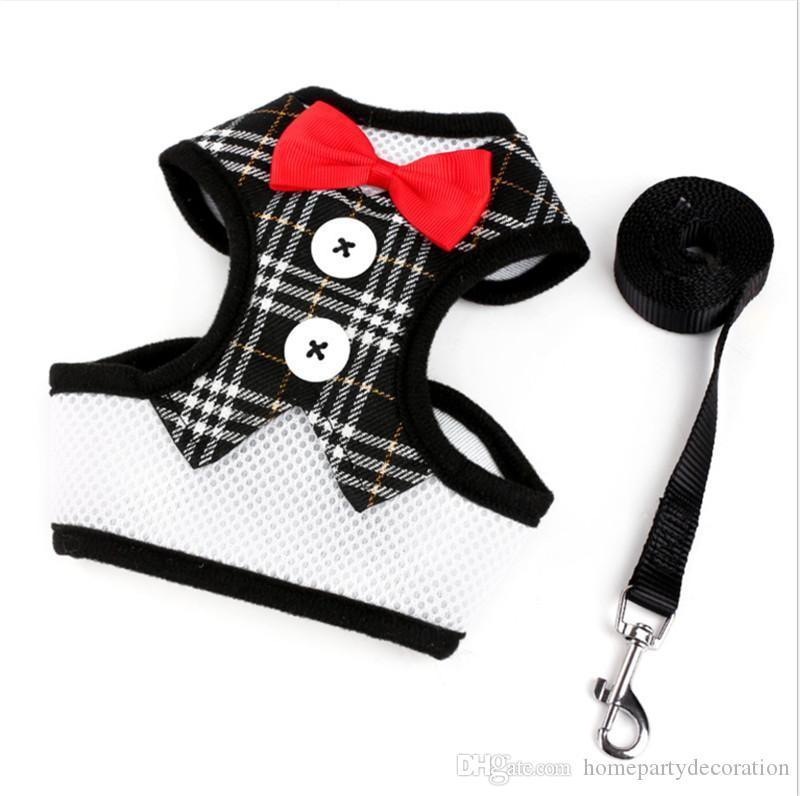 1e765beb07d7 2019 Fashion Bowtie Gentleman Suit Dog Tuxedo Easy Walk Harness Vest Dog  Leash Leads Set For Small Medium Dogs From Homepartydecoration, $2.42 |  DHgate.Com