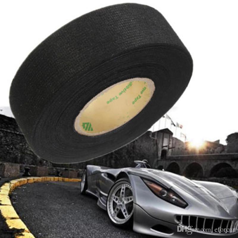 15 متر × 19 مم سيارة السيارات الأسلاك تسخير مكافحة حشرجة شعر الشريط اللاصق الذاتي