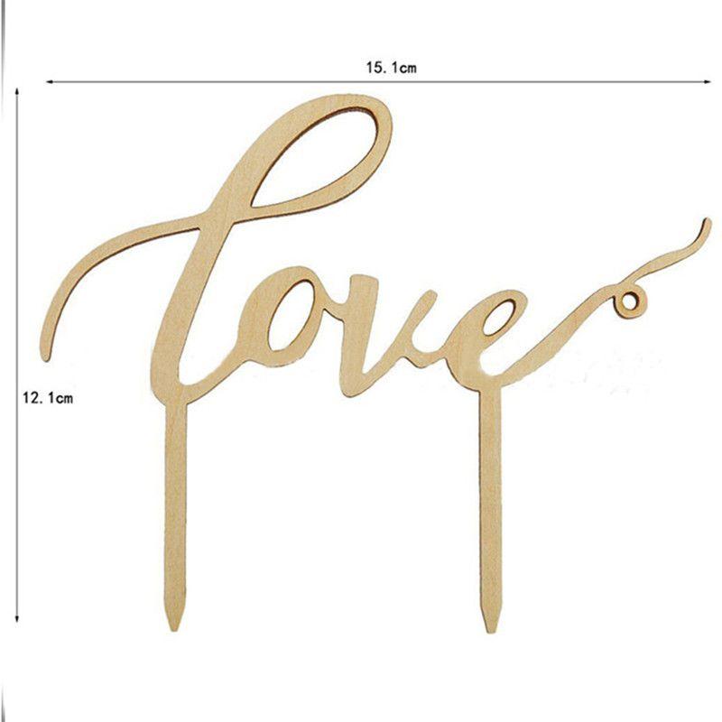Love Letter Cake Topper Wedding Cake Inserted Card Toppers Wedding Cake Inserted Personalized Wedding Decoration Wood Plug