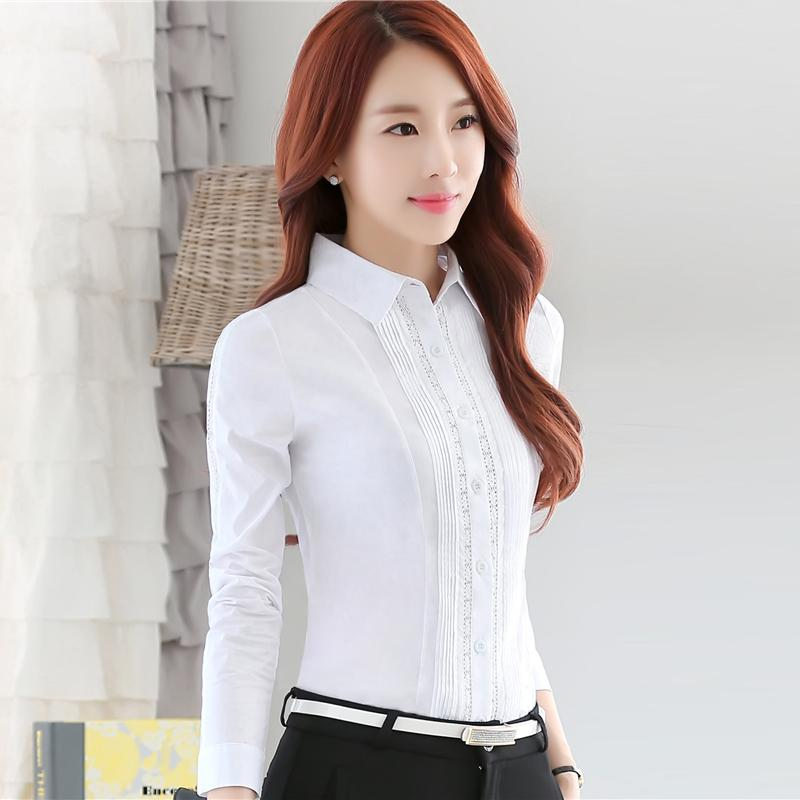 9af01cf085b 2019 Fashion Professional Office Shirts 2017 New Ladies OL Bluses Solid Blouse  Female Long Sleeve Blouse Women Clothing From China mike