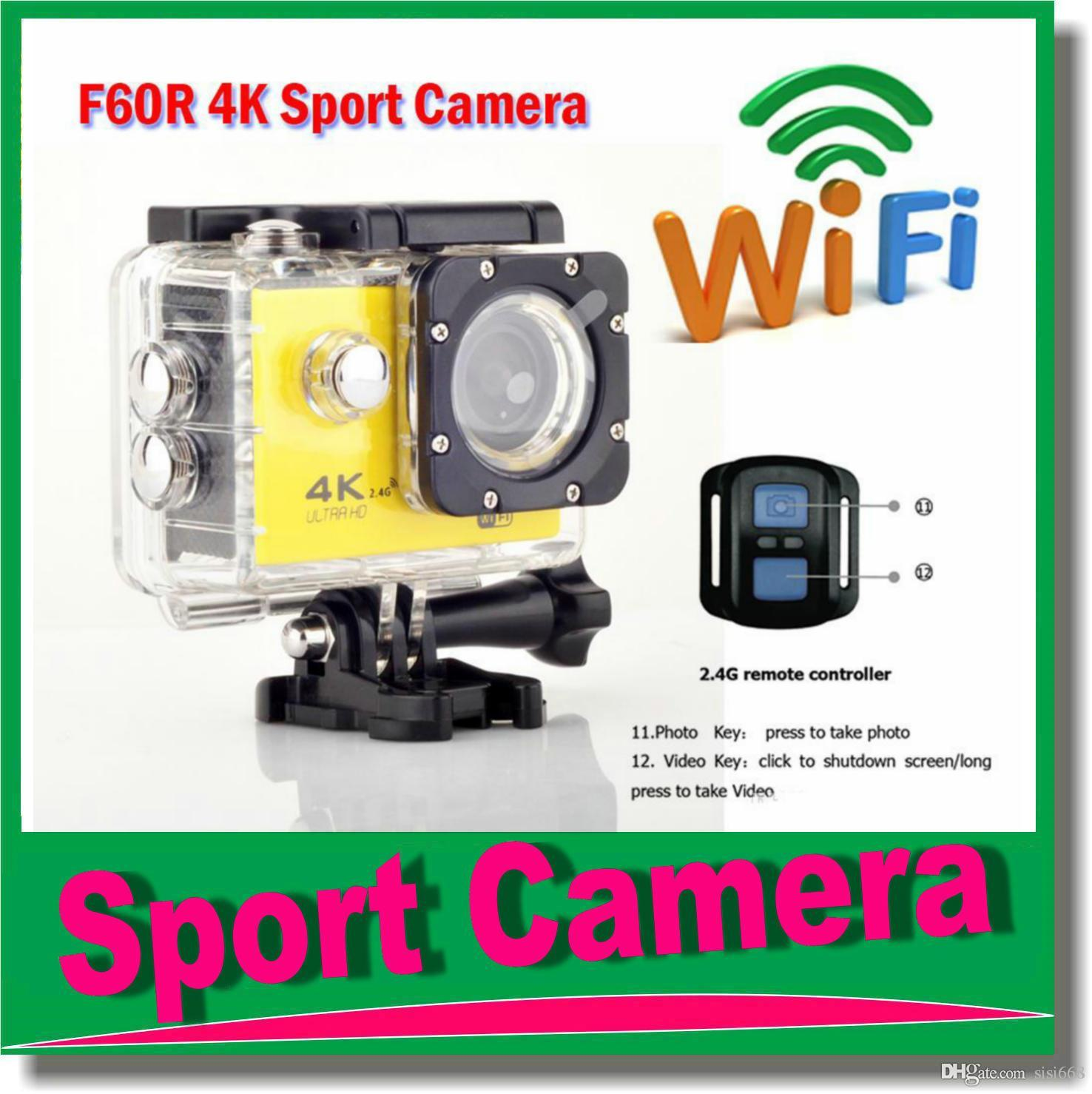 Original F60R HD 4K WiFi Action Camera with 2 4G Remote Control Camcorders Waterproof Camera Sport Helmet Cam Video DV 170D Lens JBD N5 4K Sport Camera