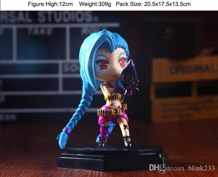 New arrival LOL league of legends figure Figure Cute Jinx Q jinx PVC Anime LOL Action Figures Model Toys by DHL