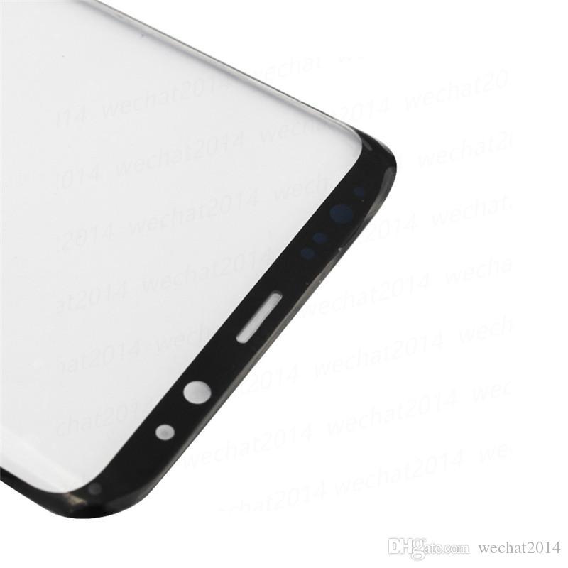삼성 전자 갤럭시 S8 G950 S8 플러스 G955 무료 OEM 전면 외장 터치 스크린 유리 렌즈 교체 DHL