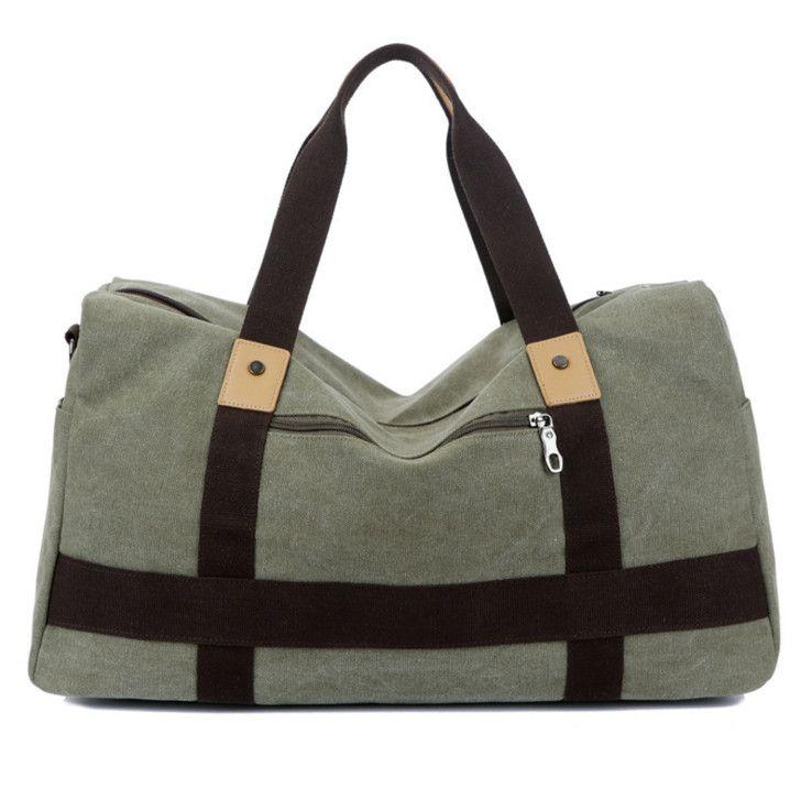 Men Retro Vintage Large Canvas Travel Bag Shoulder Crossbody Handbag ... 07b80757de