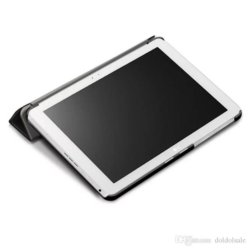 Lüks Üç Katlanır PU Deri Kılıf Kapak için LG Gpad G Pad 3 G PAD3 10.1X760 Tablet Ultra Ince Durumda