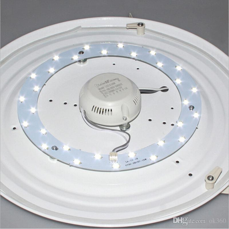 5 W 12 W 15 W 18 W 23 W LED Tavan Işık Kaynağı AC90-265V SMD5730 LED Yuvarlak Tavan Kurulu Dairesel Lamba Kurulu