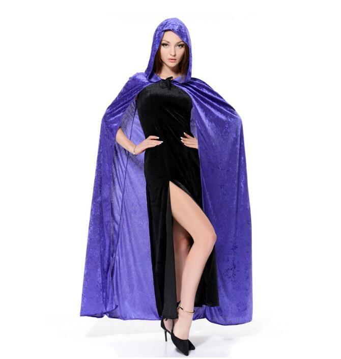 Costumes d'Halloween sorcière cloacks Halloween Vampire caban Sorcière Assistant Cloaks robe mort Robe Fantaisie cosplay 150cm pour adultes