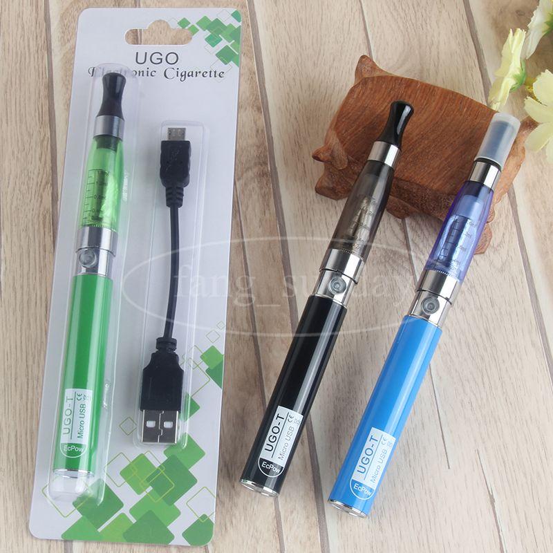 EGO CE4 Electronic Cigarette Blister Pack Kits Starter Mini Clearomizer Tank Vape Atomizer 650MAH UGO T USB Passthrough 510 Thread Battery