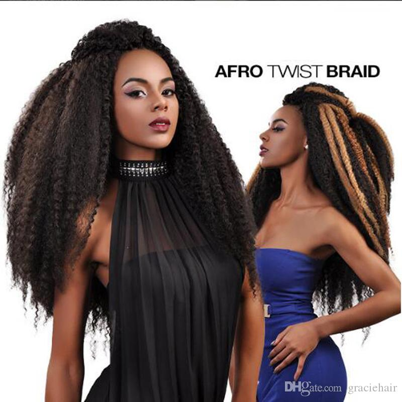 2018 Synthetic Hair Extensions Senegalese Twist 18 Folded Afro Kinky