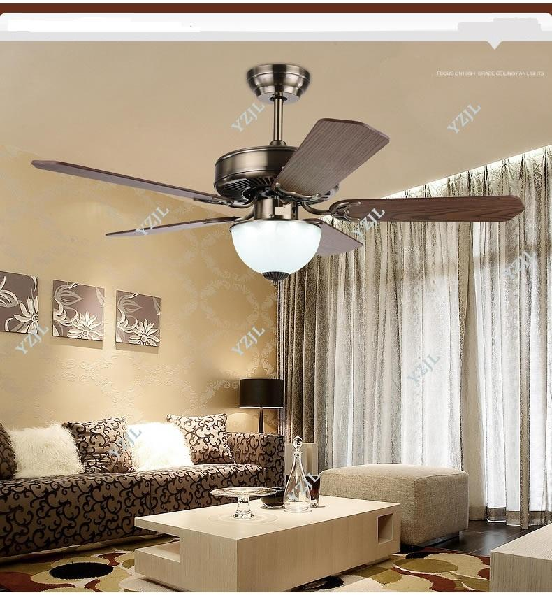LED ceiling fan lights restaurant dining continental antique vintage 42inch ceiling lights fan simple electric fan lights