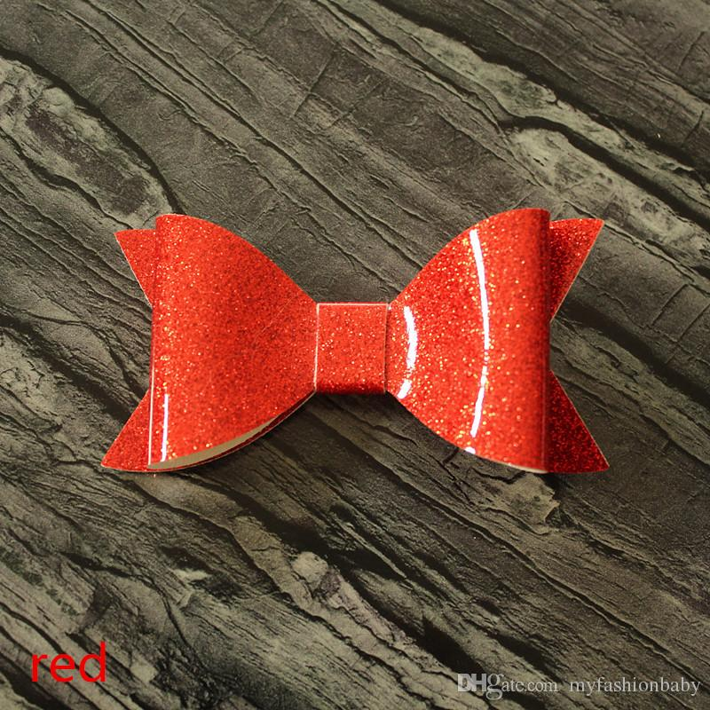 2.17 new Glitter Felt Big Size Lovely Hair Clip Cute Shinning Barrette Bowknot Hairpin 10*5CM size Hair Clip Gold Glitter Felt