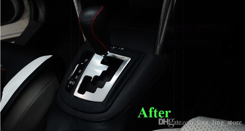 Chrom Auto Gear Runde Abdeckung Trim interne Dekoration Trim für MAZDA CX-5 CX5 AT 2012 2013 Gear Panel