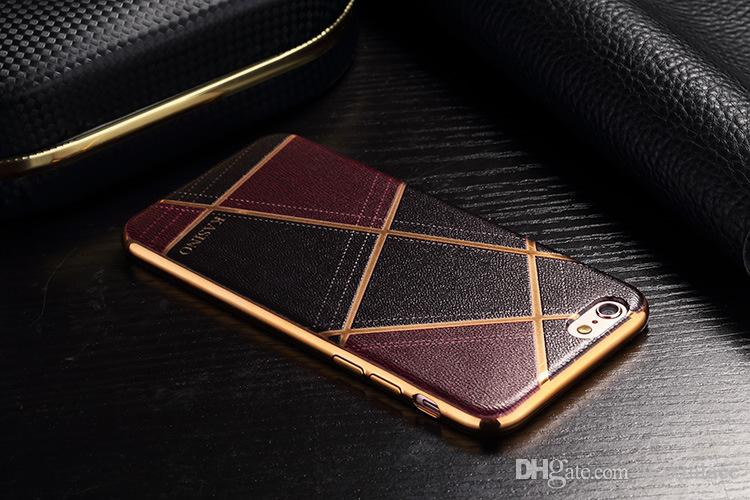 Phone Cases Electroplate Sculpture Shell Shape ultra thin Anti-drop shockproof Flip TPU Leather TPU Back Case For Iphone 7 OPPO X9