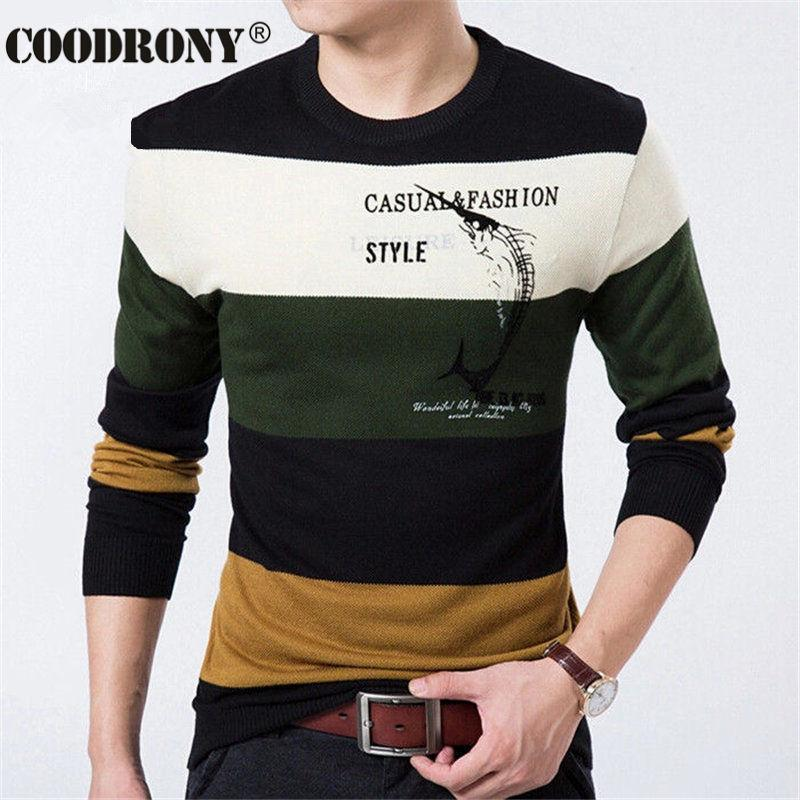 dcb8664ba Fish Printed Pullover Men Brand Sweater Men 2016 Cashmere Clothing ...