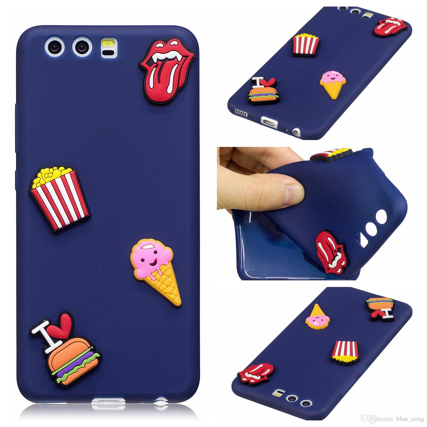 Fashion Candy Colors 3d Soft And Flexible Silicone Rubber Phone Case For Huawei P10 P10 Plus Vivo X9 Oppo R9s R9s Plus A59 Cell Phone Cases Phone Case From