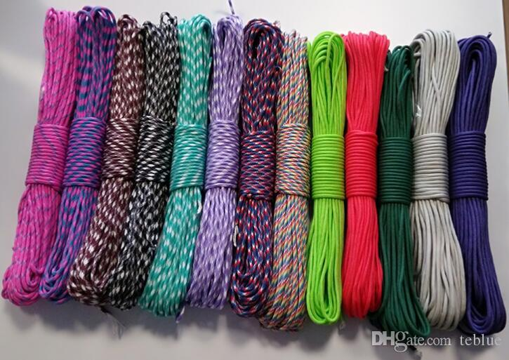 Paracord 550 Parachute Cord Lanyard Rope Mil Spec Type 7 Strand Cord 100FT 31m Climbing Camping survival equipment