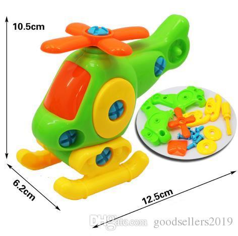 Çocuklar Bebek Erken Öğrenme Bulmaca Eğitici Oyuncaklar Uçak Çocuk Sökme Montaj Karikatür Oyuncak Uçak