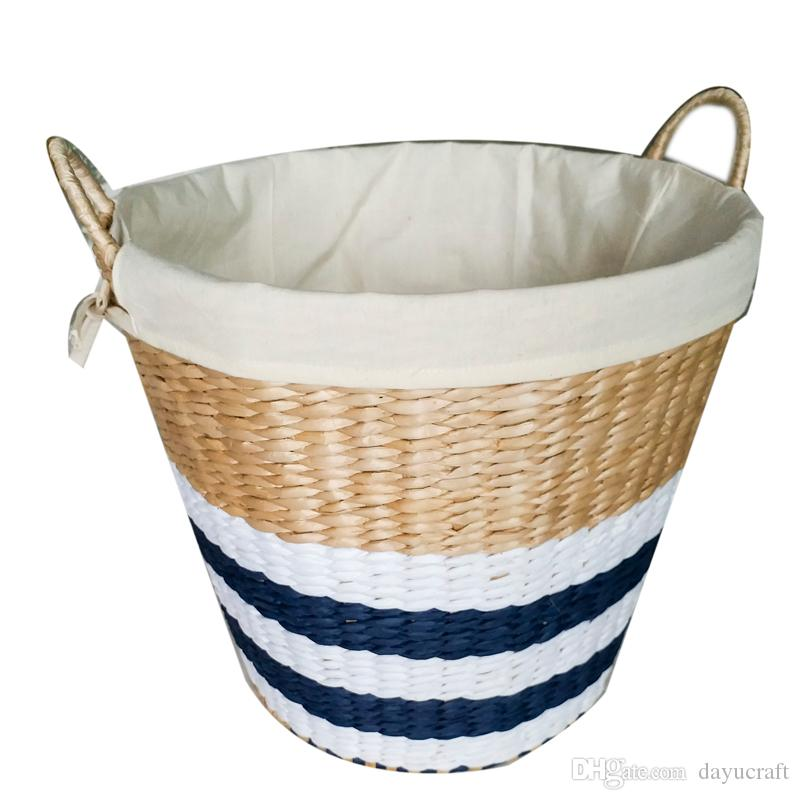 Incroyable 2018 Handcrafted Eco Friendly Straw Woven Storage Basket With Handle  Laundry Basket Rectangular Bins Clothes Storage Containe From Dayucraft, ...