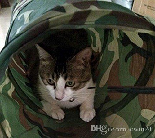Pet Tunnel Cat Play Camouflage Color Funny Long Kitten Play Toy Collapsible Bulk Toys Play wholesale