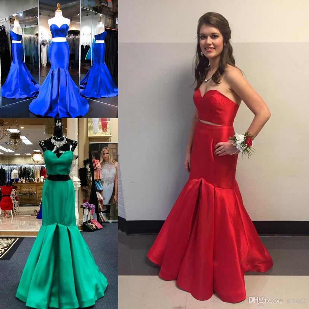 031c39eecc7cf Prom Dresses 2k17 With Sweetheart Top And Formfitting Bottom Real Images  Royal Blue Satin Mermaid Prom Dress Sweep Train In Stock Popular Prom  Dresses ...