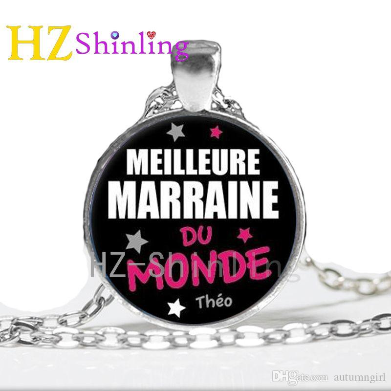 NS 694-2 Steampunk Pop Rock band La meilleure MARRAINE - NOUNOU-MAITRE-MAITRESE du monde je suis une tu es une necklace