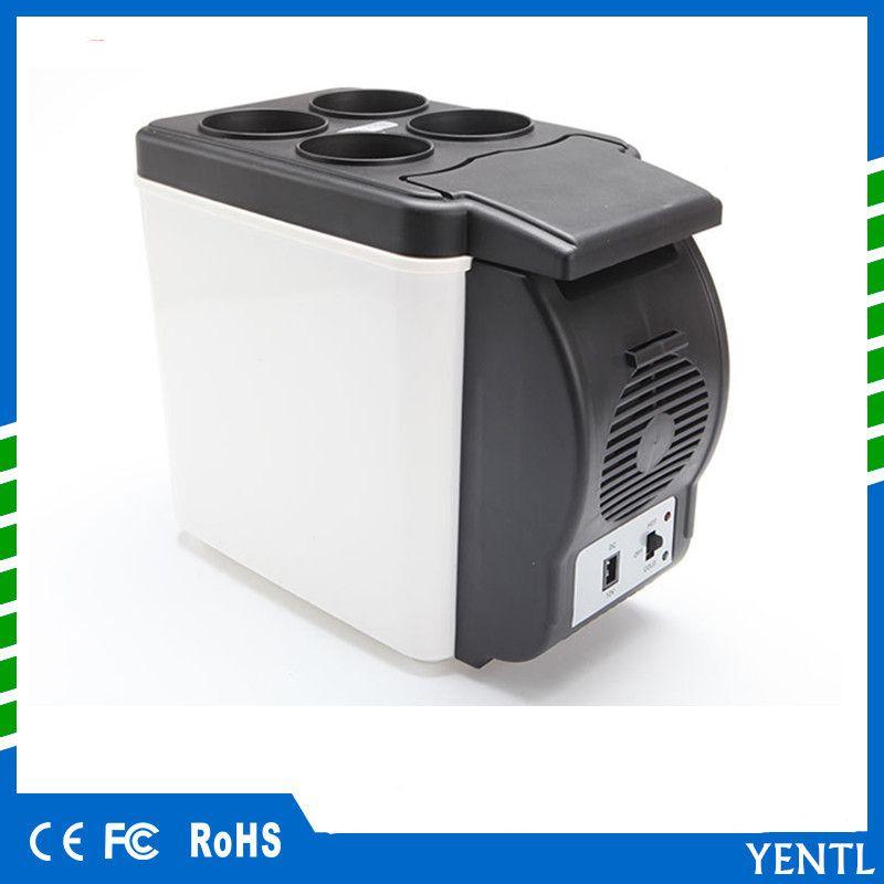YENTL Mini Car Fridge 12V 6L Auto Travel Refrigerator ABS Cooler Freezer  Warmer Portable Multi-Function Anti-Rotten Keep Cool for trip