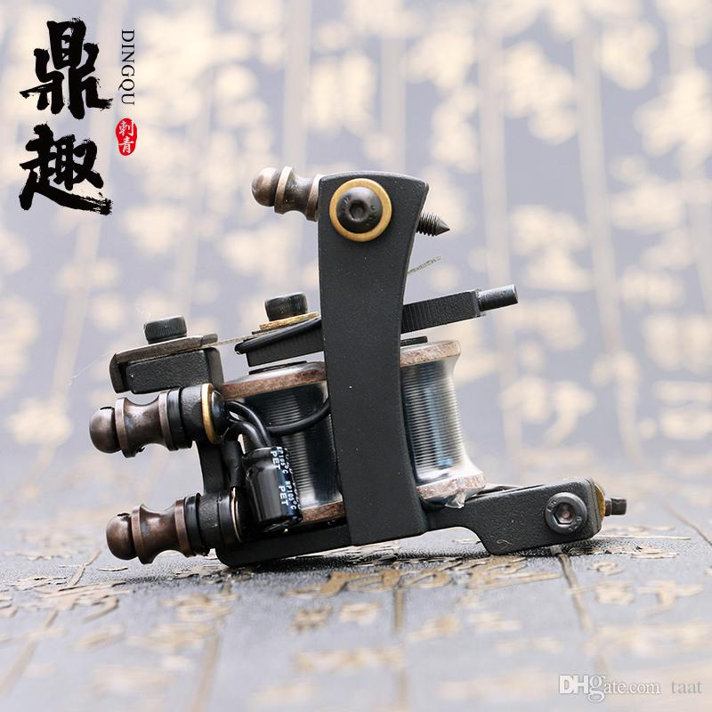 New Arrival Tattoo Machine Black Liner Tattoo Gun 10 Coils Tattoo Supply TM462