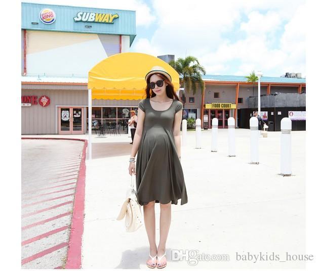 040c8b6027298 Satın Al Yaz Analık Elbiseler Emzirme Pamuk Kısa Kollu Hamile Kıyafetleri  Hamile Kadınlar Için Vestidos, $17.94   DHgate.Com'da