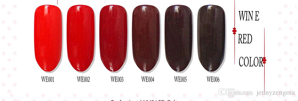 Wine Red Color Nail Art 8ml Nail Polish Long Lasting Holo Gel Nail ...