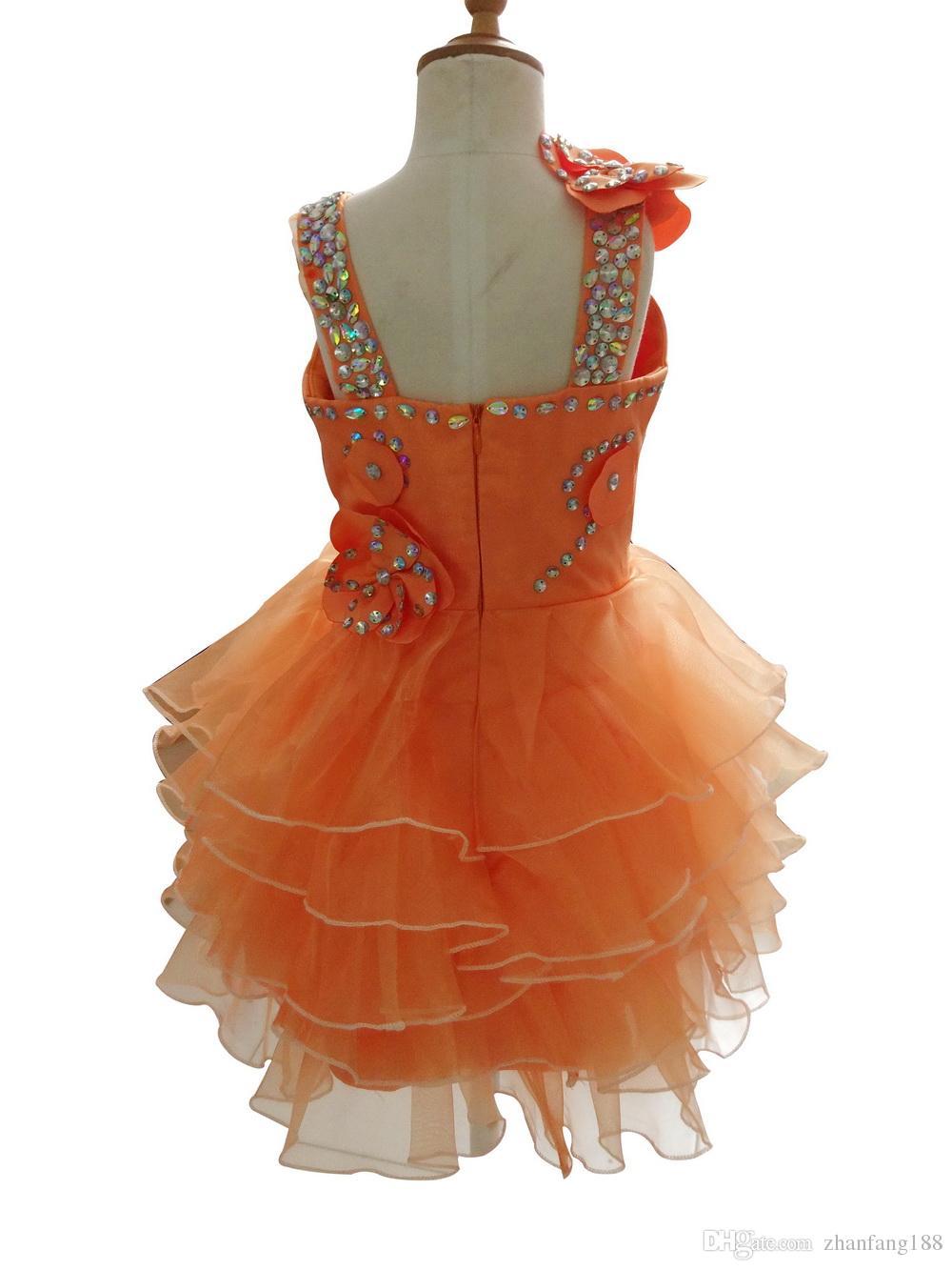 2019 Novo Vestido Da Menina de Flor Crianças / Crianças Pageant Da Menina Noite / Prom / Comunhão Vestido / Vestido para o Aniversário de Casamento Festa de Presente de Noiva