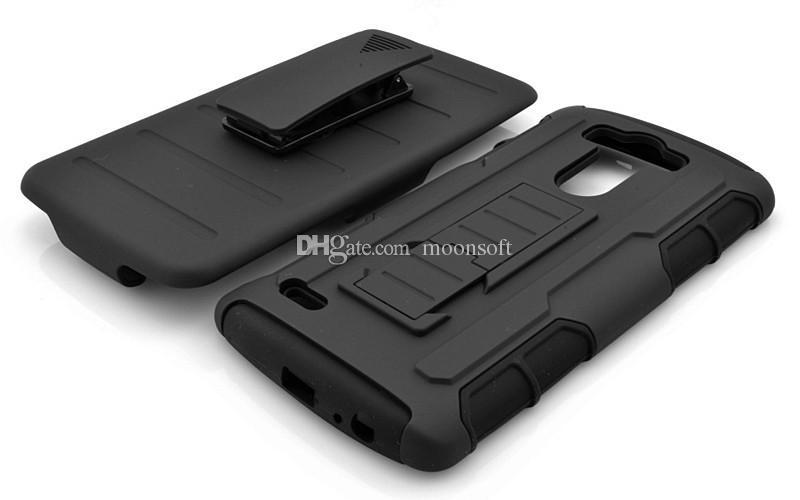 For G3 Future Armor Impact Holster Hybrid Hard Case For LG G3 D850 D855 G4 Black Rugged Belt Clip Kickstand Armor Phone Case