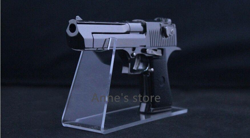 2 pz vendita calda boutique store acrilico trasparente pistole all'aperto display titolare modello pistola mostrando pistola espositore cremagliera