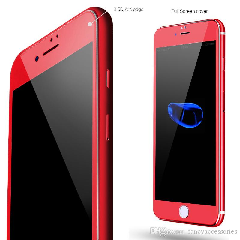 For Iphone 7 Special Edition Plus Red Glass 3d Curved Surface Tempered Screen Protector Film Iphone7 Phone