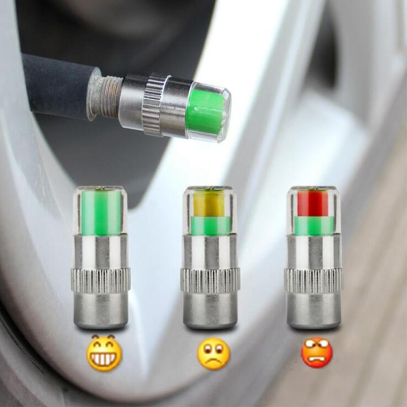 Visiable 2.4bar 36PSI 자동차 자동 타이어 공기 경고 경고 타이어 압력 센서 모니터 밸브 캡 표시기 눈 경고 진단 키트