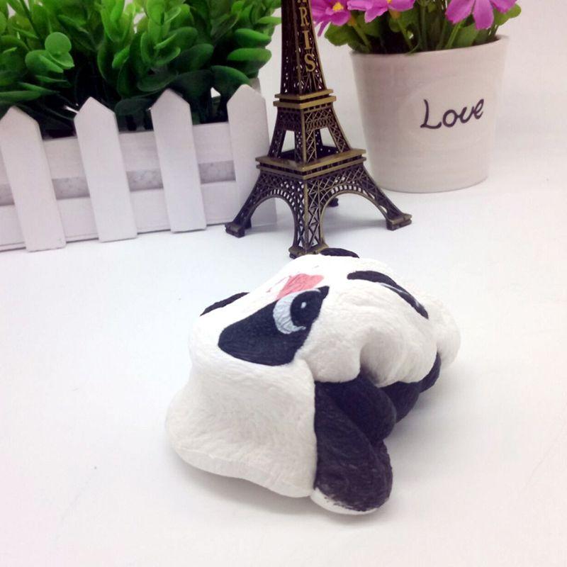 2017 New Arrived 11cm Jumbo Kawaii Panda Bun Squishy Charms Cell Phone Strap Pendant Slow Rising Charm Bread Cake Kids Toys Gift