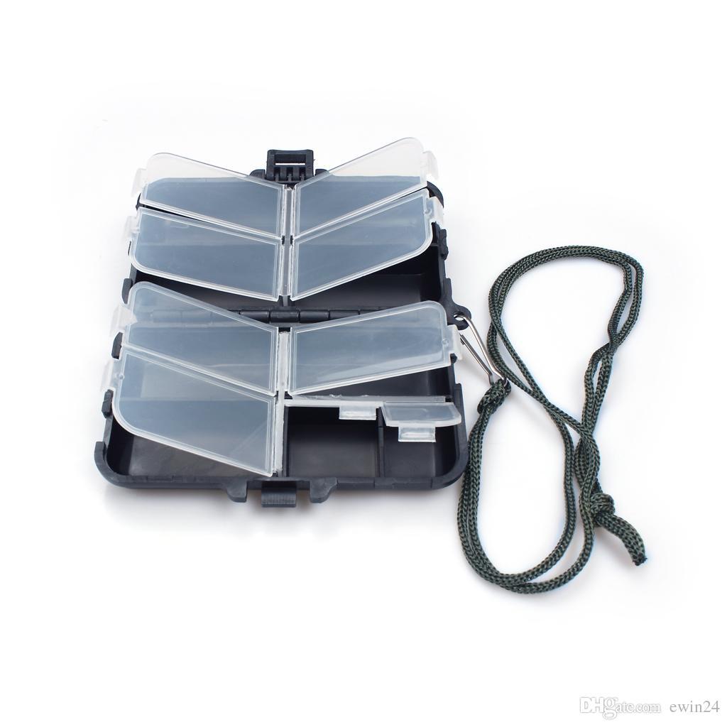 Espuma plástica Pesca con mosca Aparejos Señuelo Cebo Gancho Caja de almacenamiento Caja de la cubierta Accesorios para peces a prueba de agua 9 Compartimiento de almacenamiento Gancho Herramienta para peces